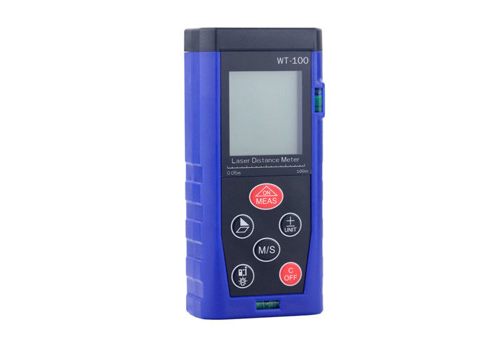 Blue Color Long Range Laser Distance Meter For Precision Measuring 100m